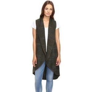 Lucky Brand Wool Blend Open Sleeveless Cardigan